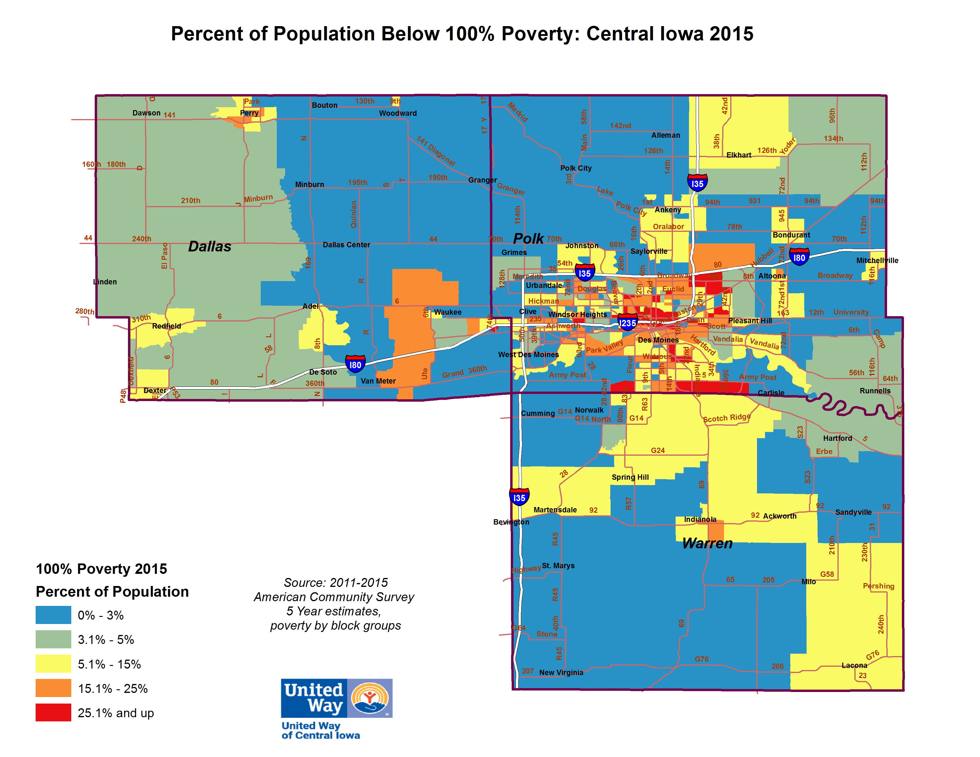 poverty in des moines