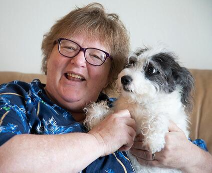 Debra and her dog
