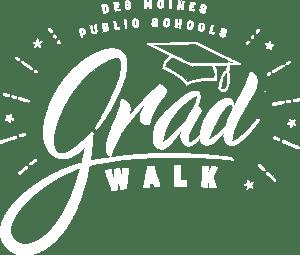Grad Walk 2019 Logo White