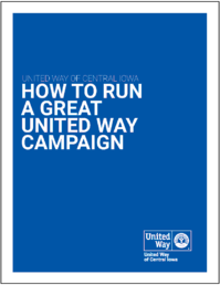 How to run a great campaign manual -cover