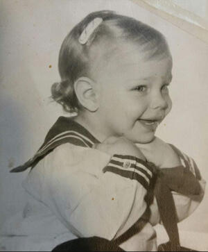Ronnie as baby