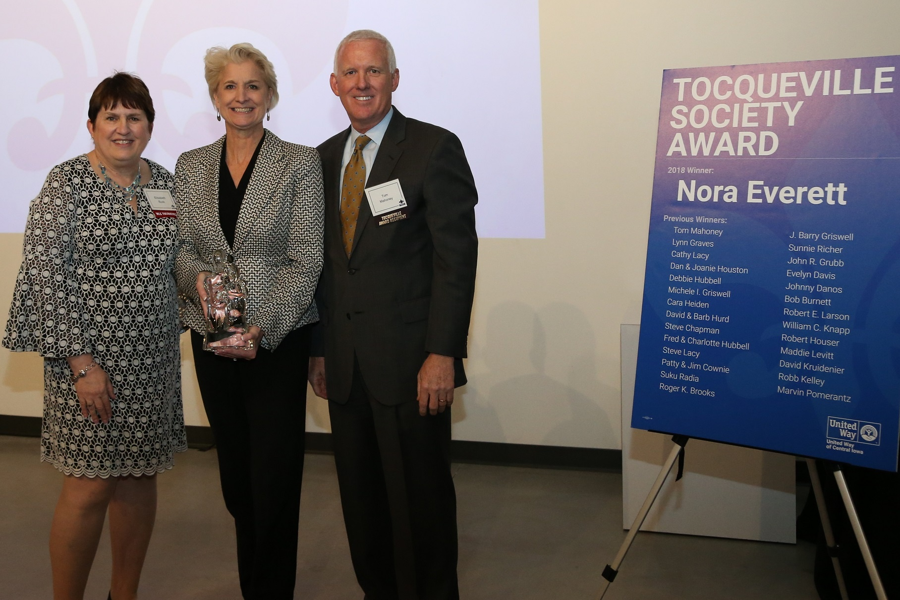Nora Everett honored with Tocqueville Award