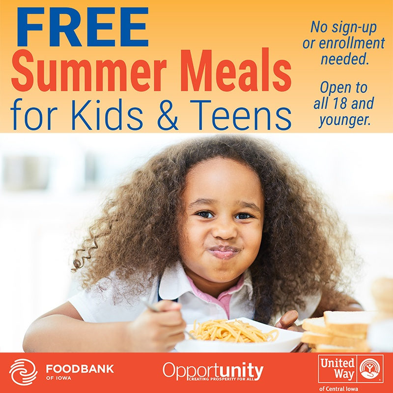 Summer Food Service Program Kicks Off in Des Moines